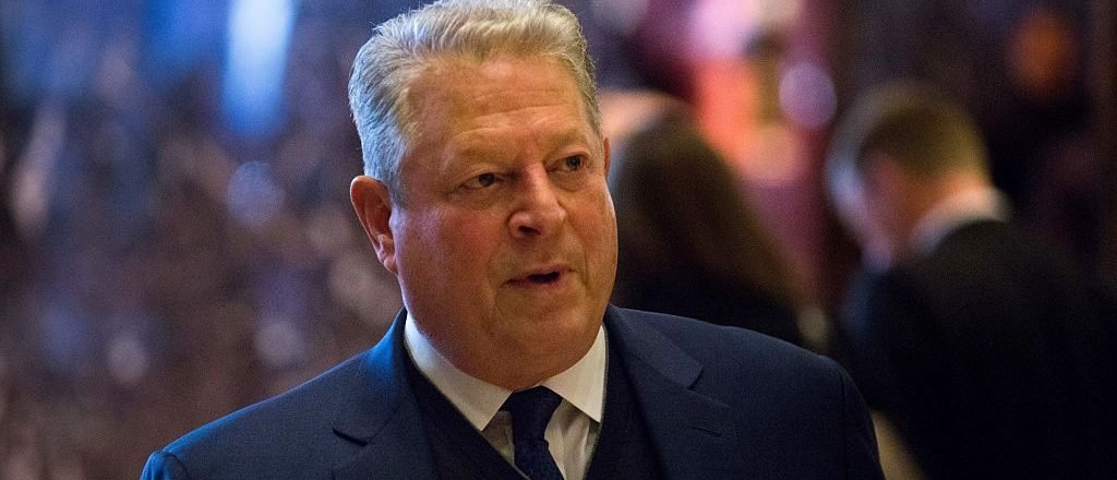 Former Vice President Al Gore talks to the media after meeting with President-elect Donald Trump at Trump Tower on December 5, 2016 in New York City. (Photo by Kevin Hagen/Getty Images)