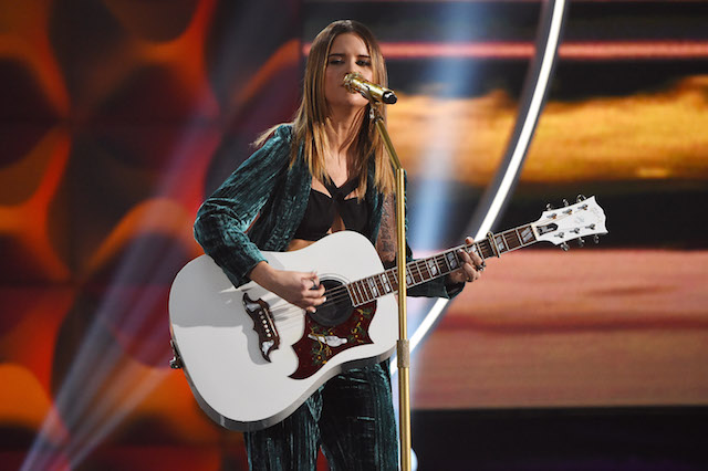 NEW YORK, NY - DECEMBER 09: Maren Morris performs at the Billboard Women in Music 2016 event on December 9, 2016 in New York City. (Photo by Nicholas Hunt/Getty Images for Billboard Magazine)