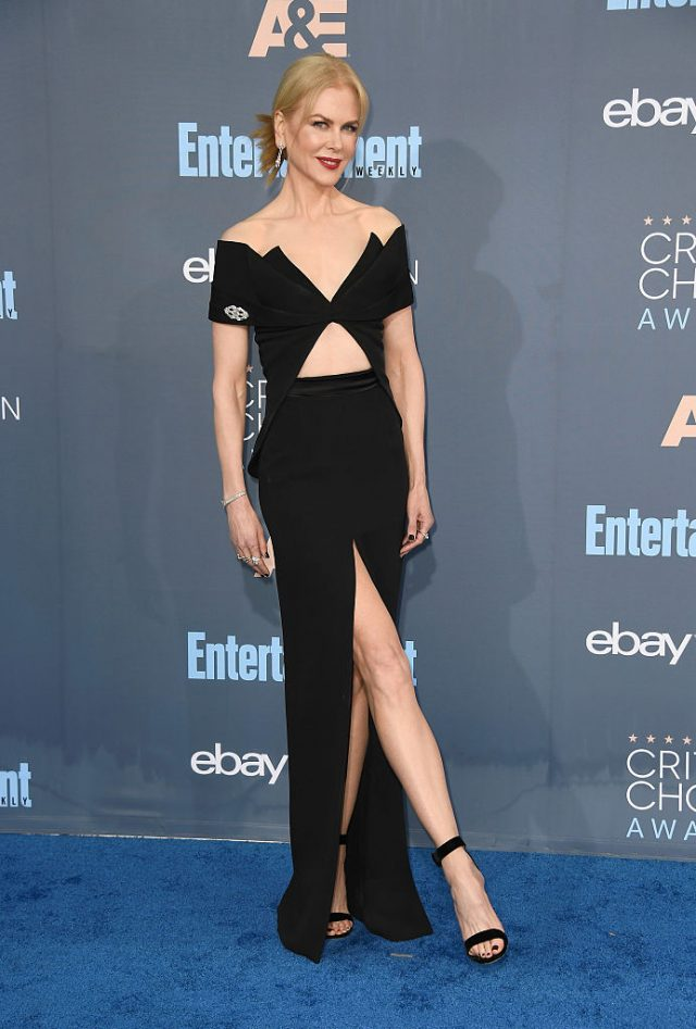 Actress Nicole Kidman attends The 22nd Annual Critics' Choice Awards at Barker Hangar on December 11, 2016 in Santa Monica, California. (Photo by Frazer Harrison/Getty Images)