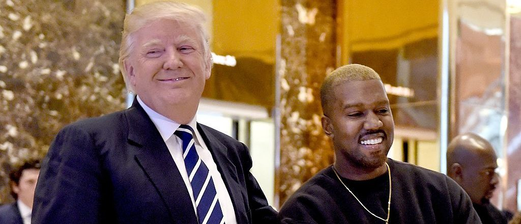 Singer Kanye West and President-elect Donald Trump speak with the press after their meetings at Trump Tower December 13, 2016 in New York. (TIMOTHY A. CLARY/AFP/Getty Images)