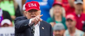 Donald Trump speaks during a thank you rally in Ladd-Peebles Stadium on December 17, 2016 in Mobile, Alabama (Getty Images)