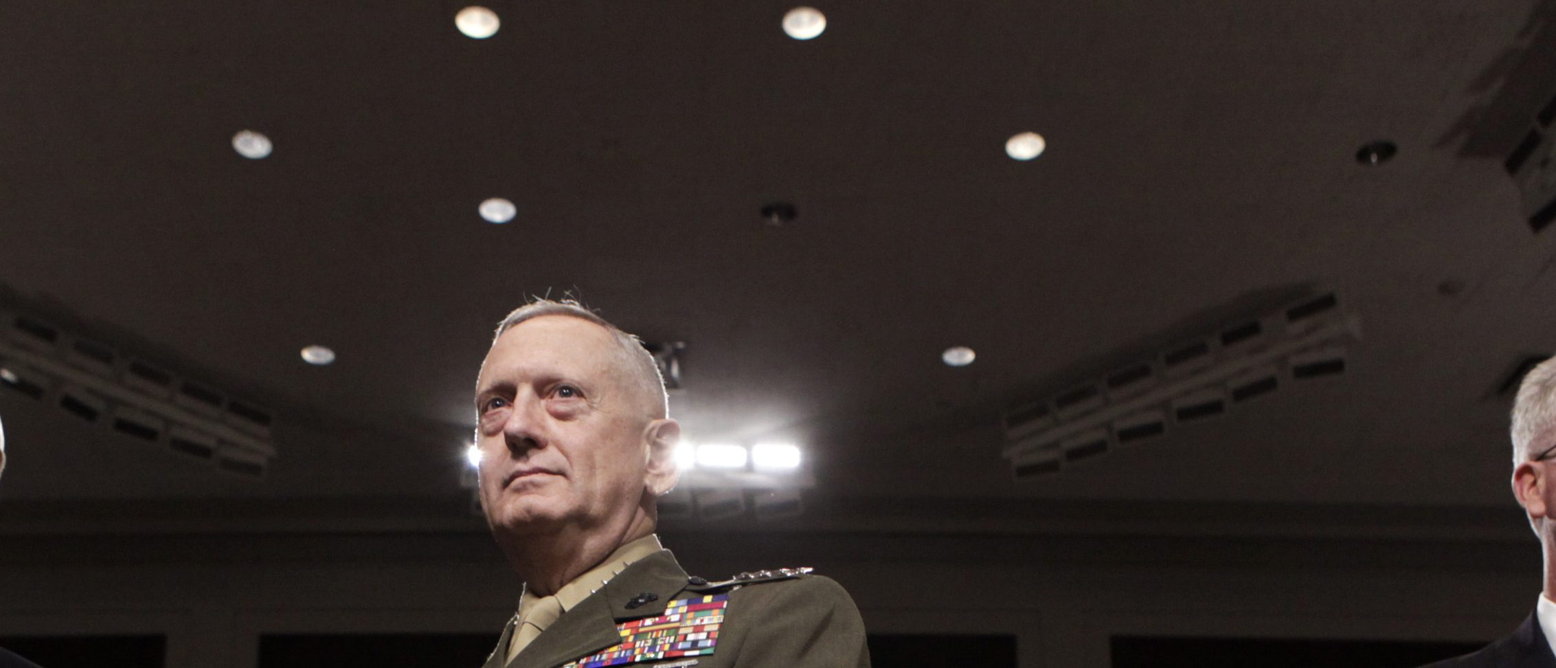 General James Mattis (C) arrives at the Senate Armed Services Committee hearing on Capitol Hill in Washington July 27, 2010, on his nomination to be Commander of U.S. Central Command. REUTERS/Yuri Gripas