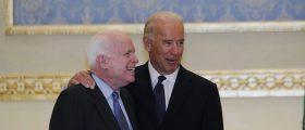 U.S. Vice President Joe Biden (R) and U.S. Senator John McCain arrive to offer their condolences on the death of the late Saudi Crown Prince Sultan bin Abdul-Aziz Al Saud at Riyadh airbase October 27, 2011. REUTERS/Fahad Shadeed
