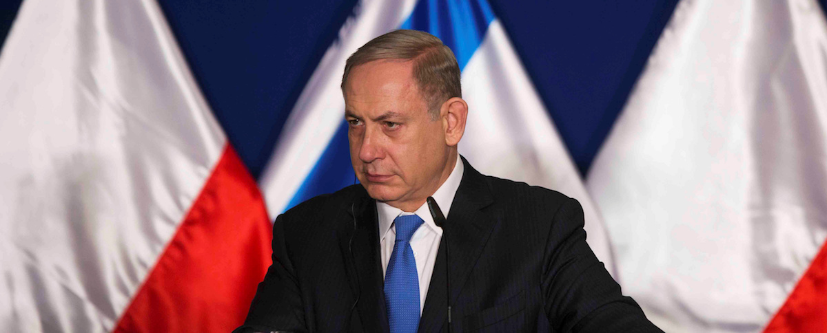 Israeli Prime Minister Benjamin Netanyahu delivers a joint statement with his Polish counterpart Beata Szydlo (not pictured) after their meeting in Jerusalem November 22, 2016. REUTERS/Nir Elias - RTSSRVV