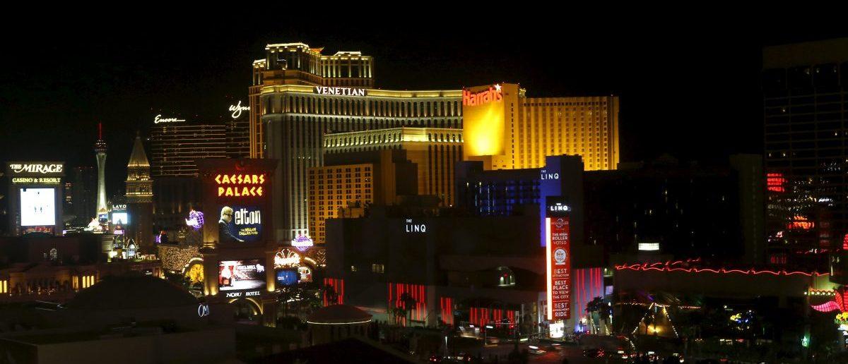 A view of the Las Vegas strip in Las Vegas