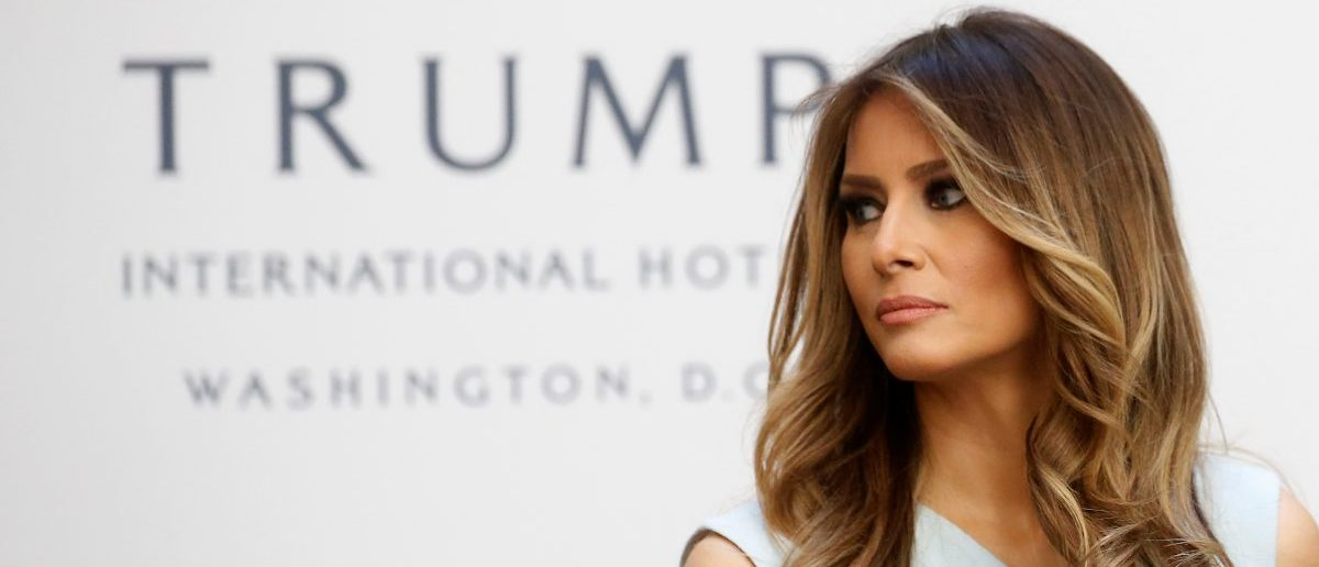 Melania Trump attends a campaign event in Washington, DC (REUTERS/Carlo Allegri)