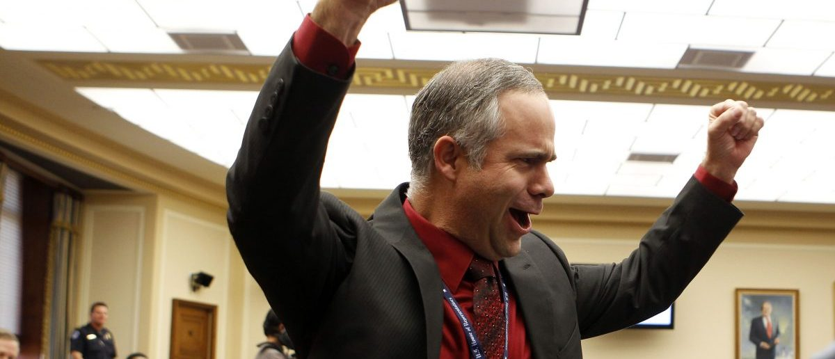 Rep. Tim Huelskamp (R-KS) cheers in his first House term. Photo: REUTERS/Larry Downing