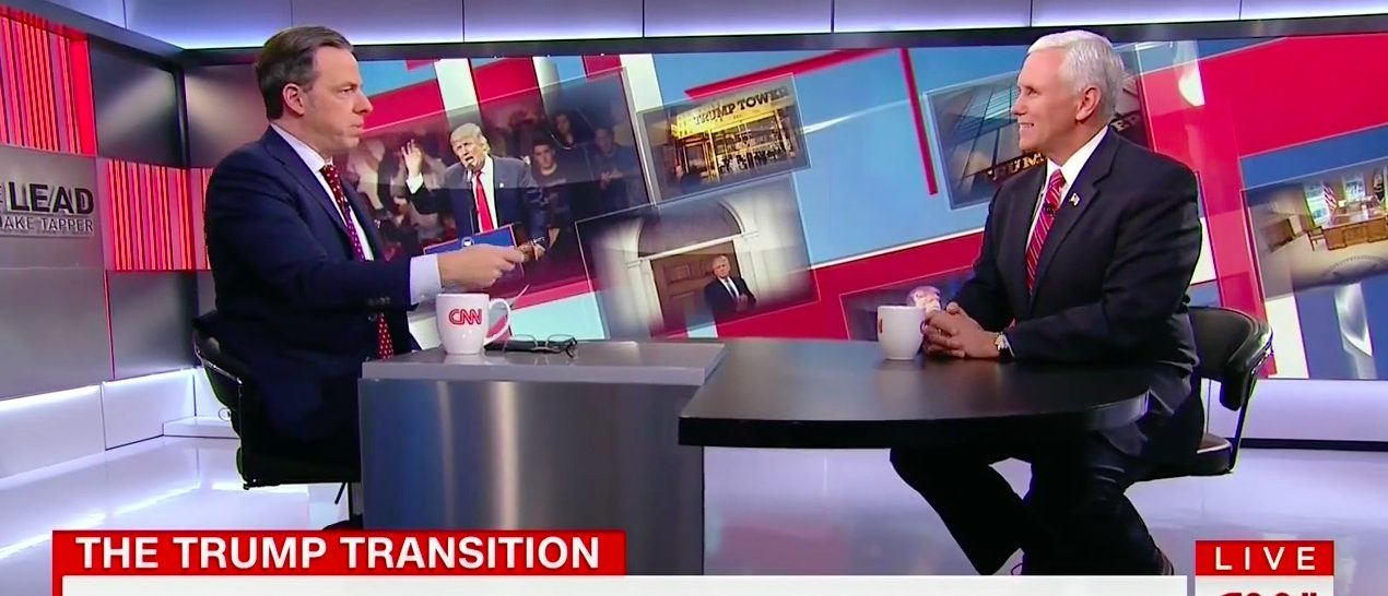 Jake Tapper, Mike Pence (CNN)