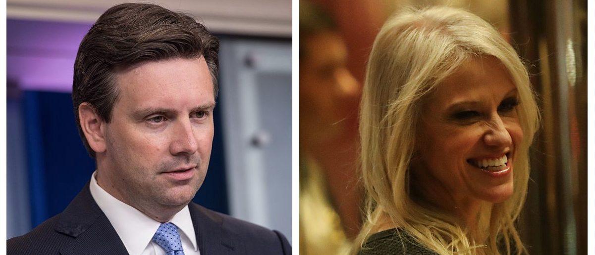 Josh Earnest, Kellyanne Conway (Getty Images)
