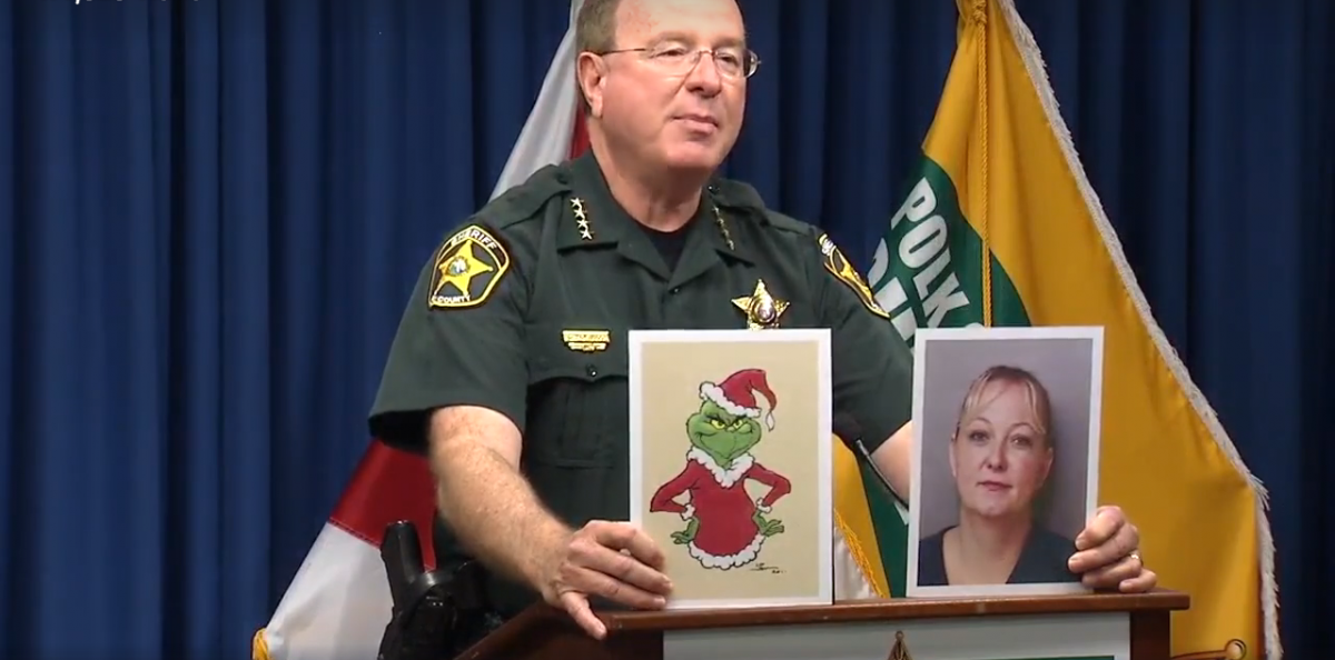 Sheriff Judd Grady speaks to press. Screengrab from Facebook video: https://www.facebook.com/FOX13TampaBay/videos/10154288321163525/