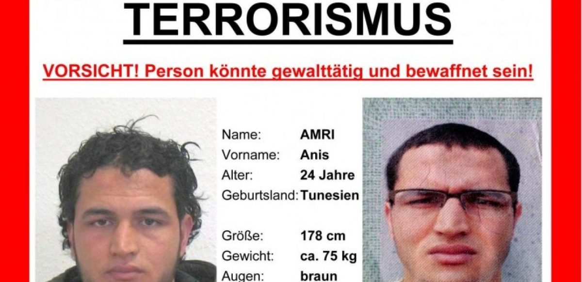Wanted poster distributed by German police.