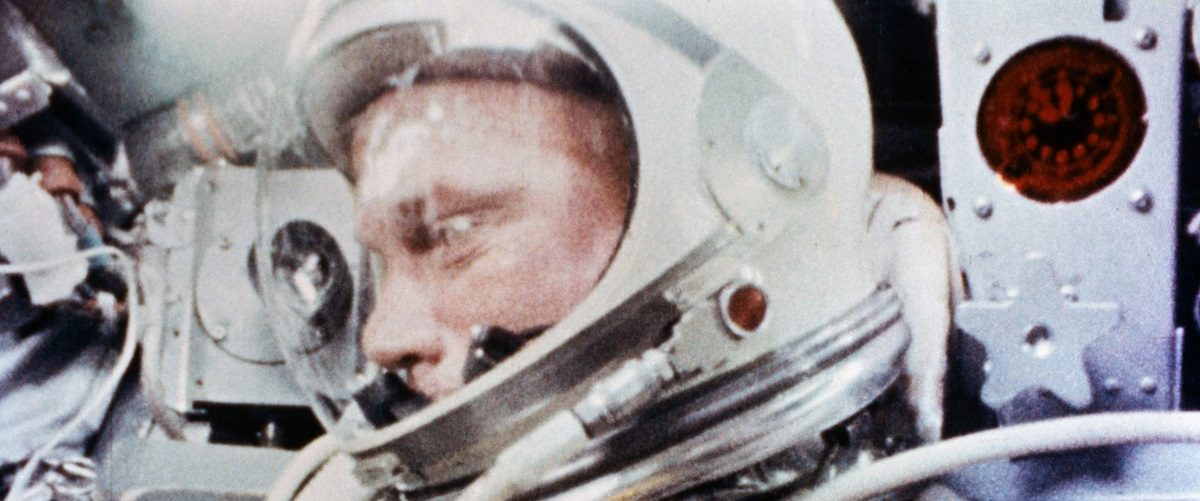 "Astronaut John H. Glenn, Jr., is pictured during the Mercury-Atlas 6 spaceflight becoming the first American to orbit Earth, February 20, 1962, in this handout photo taken by a camera onboard the spacecraft, provided by NASA. Launched from Cape Canaveral Launch Complex 14, Glenn's Mercury-Atlas 6 ""Friendship 7"" spacecraft completed a successful three-orbit mission. The flight lasted a total of 4 hours, 55 minutes, and 23 seconds before the spacecraft splashed down in the ocean. REUTERS/NASA/Handout."