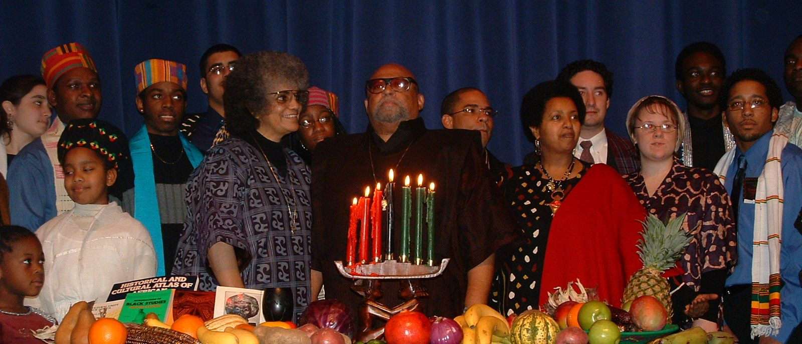 Maulana Karenga celebrating Kwanzaa