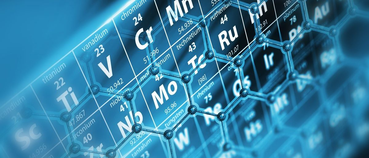 Periodic Table with Molecules Concept Illustration. (Shutterstock/welcomia)