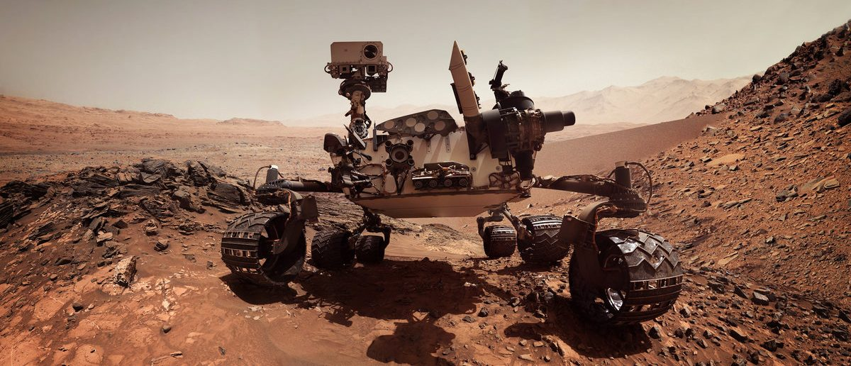 Mars rover. Elements of this image furnished by NASA (Shutterstock.com/Triff)