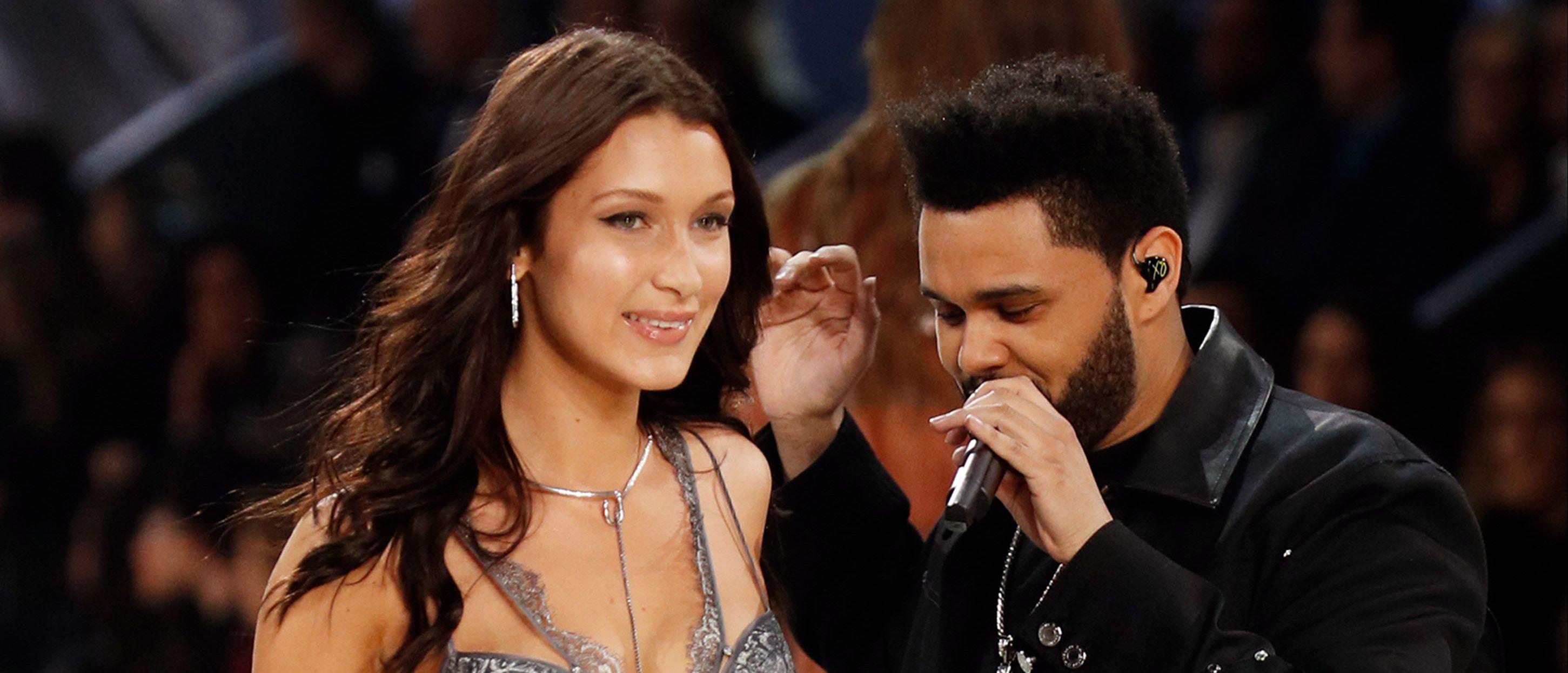 Bella and the Weeknd (Photo credit: Splash News)