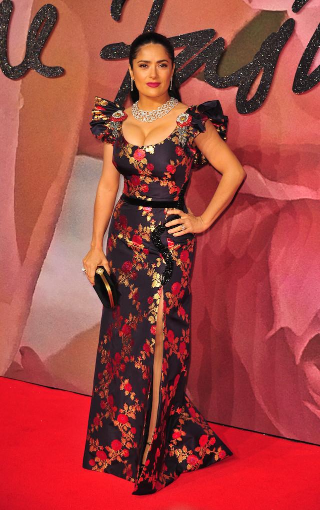 British Fashion Awards 2016 at the Royal Albert Hall in London. <P> Pictured: Salma Hayek <B>Ref: SPL1405308 061216 </B><BR /> Picture by: Reimschuessel / Splash News