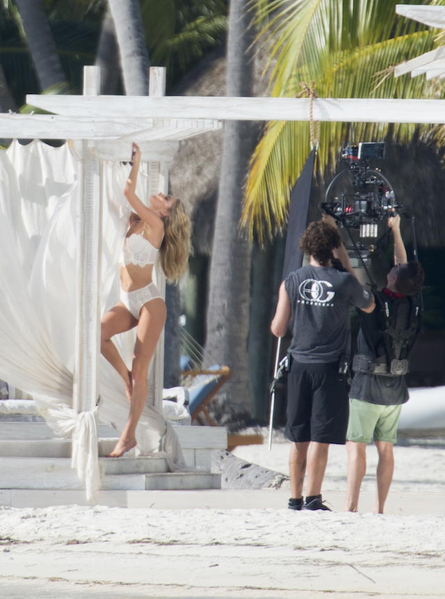 Victoria secret models are seen during a photo shooting on the beach in the Florida Keys. Top models Elsa Hosk, Romee Strijd and Stella Maxwell were showing there bodies in Victoria Secret's lingerie under the Florida sun. <P> Pictured: Elsa Hosk <B>Ref: SPL1411068 151216 </B><BR /> Picture by: Splashnews<BR /> </P><P> <B>Splash News and Pictures</B><BR /> Los Angeles:310-821-2666<BR /> New York: 212-619-2666<BR /> London: 870-934-2666<BR /> photodesk@splashnews.com<BR /> </P>