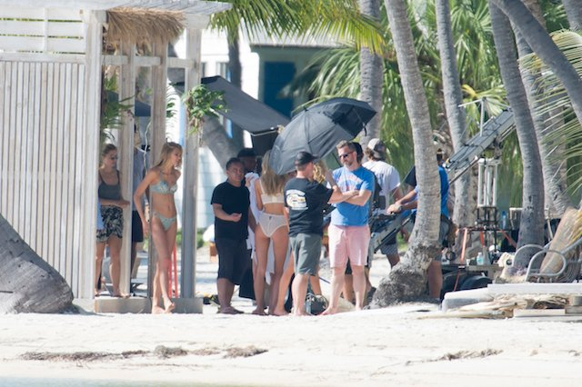 Victoria secret models are seen during a photo shooting on the beach in the Florida Keys. Top models Elsa Hosk, Romee Strijd and Stella Maxwell were showing there bodies in Victoria Secret's lingerie under the Florida sun. <P> Pictured: Elsa Hosk, Romee Strijd <B>Ref: SPL1411068 151216 </B><BR /> Picture by: Splashnews<BR /> </P><P> <B>Splash News and Pictures</B><BR /> Los Angeles:310-821-2666<BR /> New York: 212-619-2666<BR /> London: 870-934-2666<BR /> photodesk@splashnews.com<BR /> </P>
