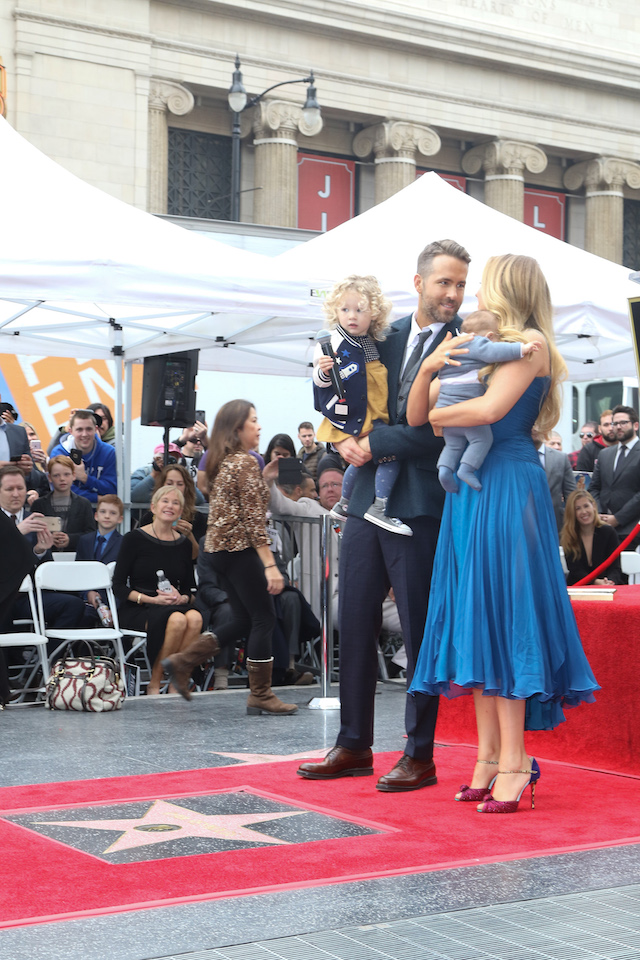 Blake Lively at Ryan Reynolds Hollywood star ceremony <P> Pictured: Blake Lively <B>Ref: SPL1411518 151216 </B><BR /> Picture by: Splash News