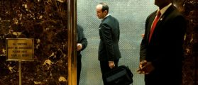 FILE PHOTO: Stephen Miller, advisor and speechwriter for U.S. President-elect Donald Trump, arrives at Trump Tower in New York City, NY, U.S. January 2, 2017. REUTERS/Jonathan Ernst/File Photo