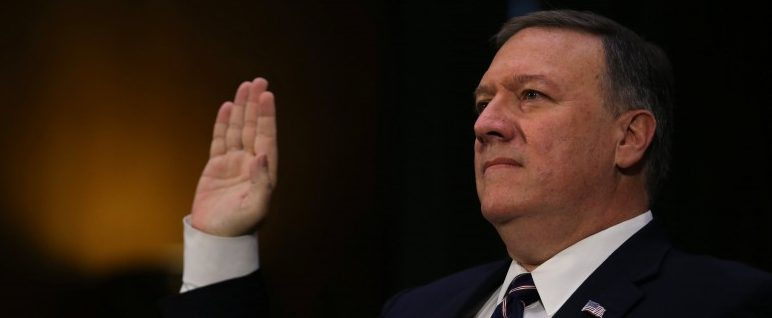 Representative Mike Pompeo (R-KS) testifies before a Senate Intelligence hearing on his nomination to head the CIA on Capitol Hill in Washington January 12, 2017. REUTERS/Carlos Barria