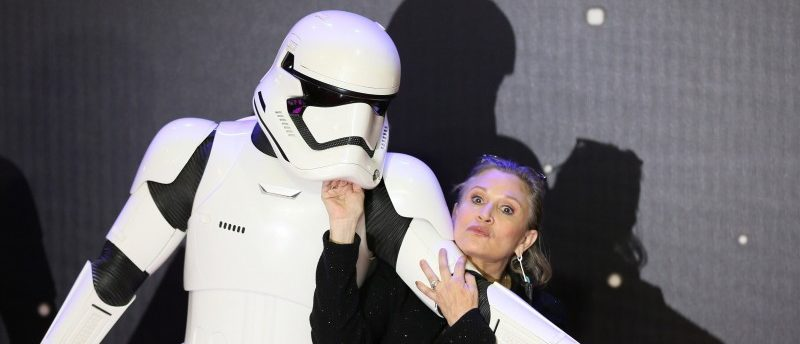 FILE PHOTO - Carrie Fisher poses for cameras as she arrives at the European Premiere of Star Wars, The Force Awakens in Leicester Square, London, December 16, 2015. REUTERS/Paul Hackett/File Photo