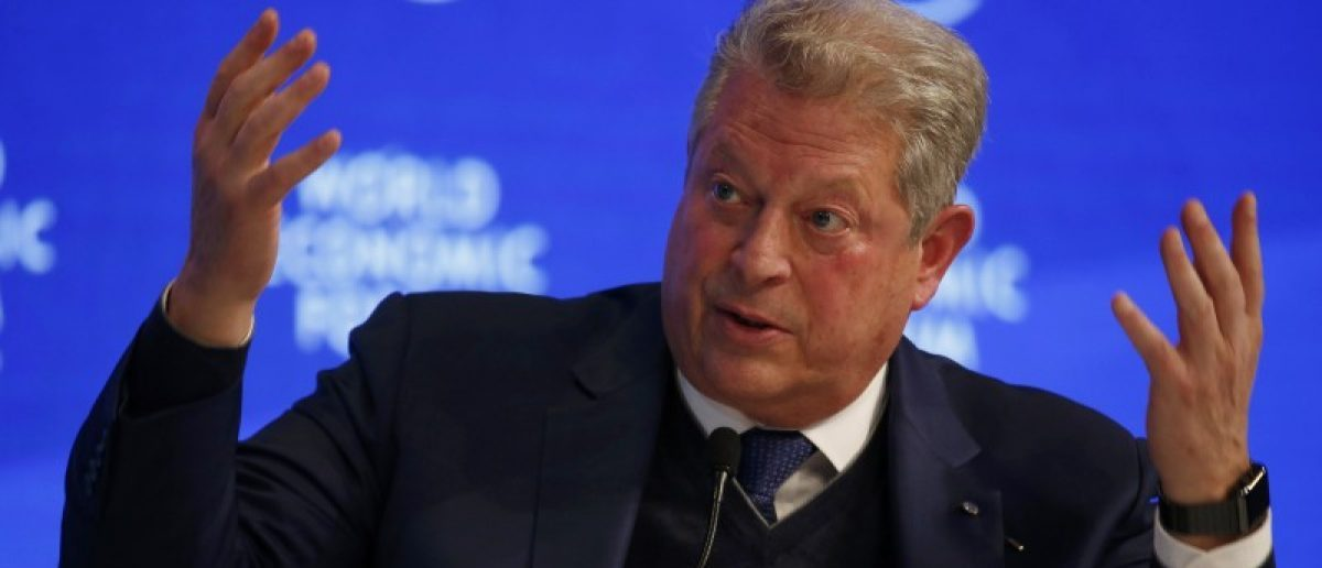 Former U.S. Vice President Al Gore, attends the annual meeting of the World Economic Forum (WEF) in Davos