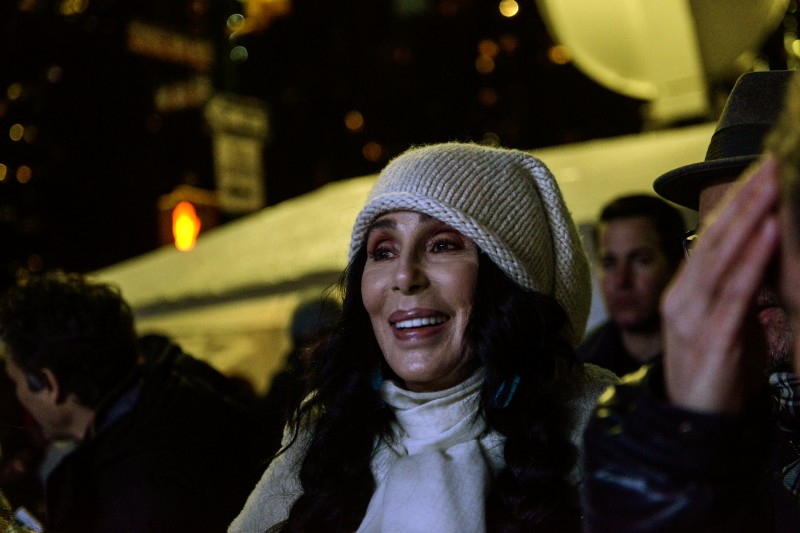 Cher waits backstage at a protest against U.S. President-elect Donald Trump outside the Trump International Hotel in New York City, U.S. January 19, 2017. REUTERS/Stephanie Keith