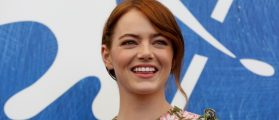 FILE PHOTO: Actress Emma Stone while attending the photocall for the movie
