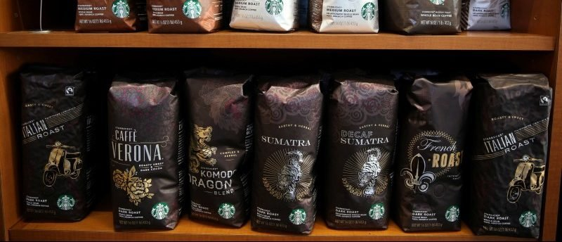 Starbucks coffee is seen in Los Angeles, California, U.S., January 25, 2017. REUTERS/Lucy Nicholson
