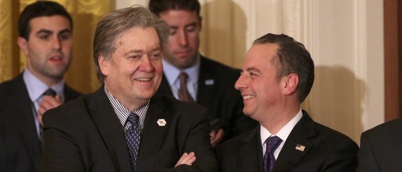 Steve Bannon and Reince Priebus (Reuters Pictures)