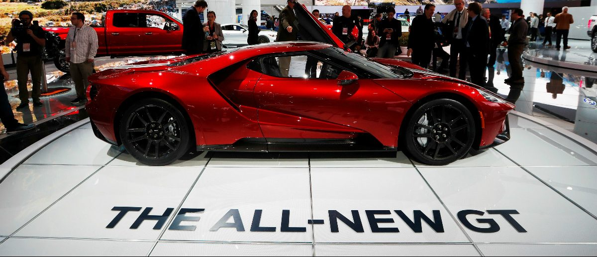 A 2017 Ford GT is displayed during the North American International Auto Show in Detroit: Mark Blinch/Reuters