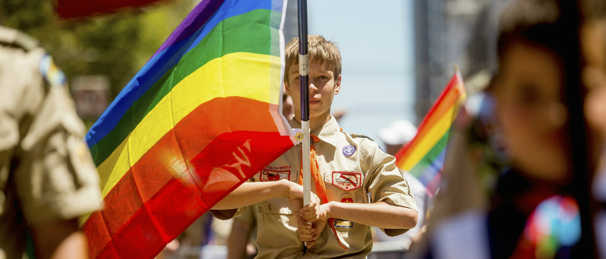 Boy Scouts gay pride parade Reuters/Noah Berger