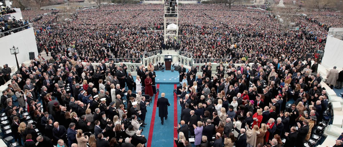 President-elect Donald Trump arrives on the West Front of the U.S. Capitol on January 20, 2017 in Washington, DC. (Photo by Scott Olson/Getty Images)