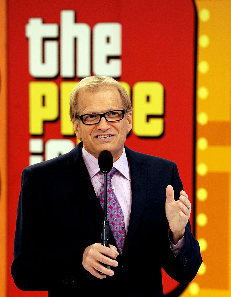 "Comedian/host Drew Carey appears onstage at the taping of the 39th season premiere of ""The Price is Right"" at Television City on August 9, 2010 in Los Angeles, California. (Photo by Kevin Winter/Getty Images)"