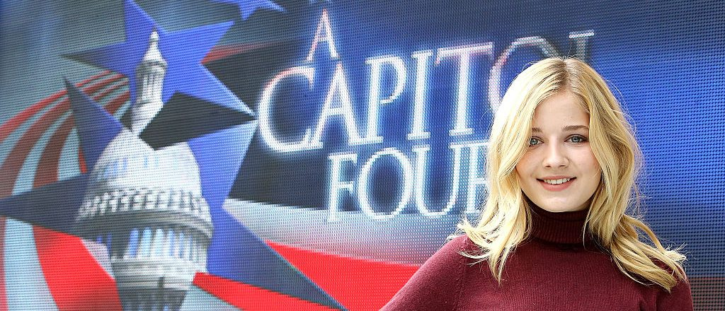 Classical crossover star Jackie Evancho poses for a photo during A Capitol Fourth - Rehearsals at U.S. Capitol, West Lawn, on July 3, 2016 in Washington, D.C. (Photo by Paul Morigi/Getty Images for Capital Concerts)