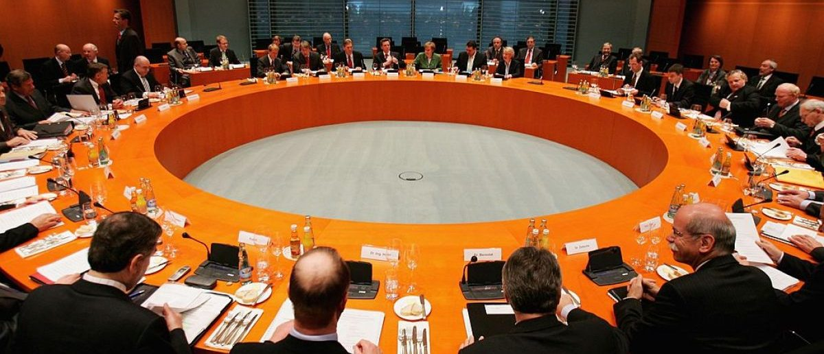 View of the board at the Chancellery on April 03, 2006 in Berlin, Germany. (Photo by Andreas Rentz/Getty Images)