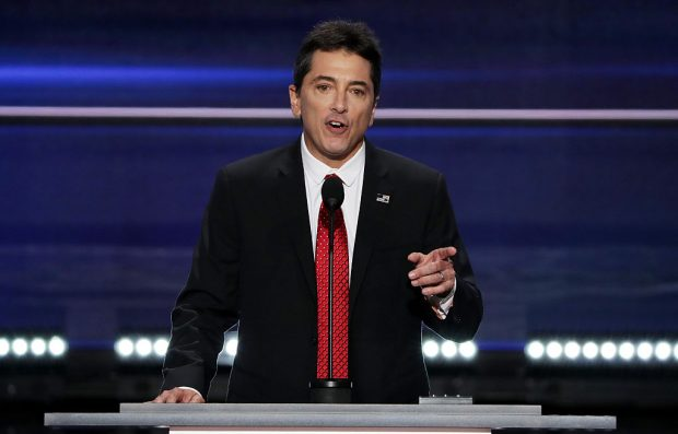 Scott Baio speaks at the RNC. (Photo by Alex Wong/Getty Images)