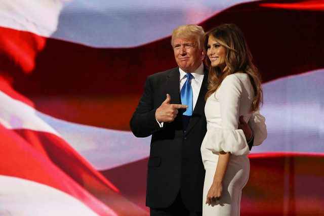 Melania Trump at the Republican National Convention. (Photo: Getty Images)