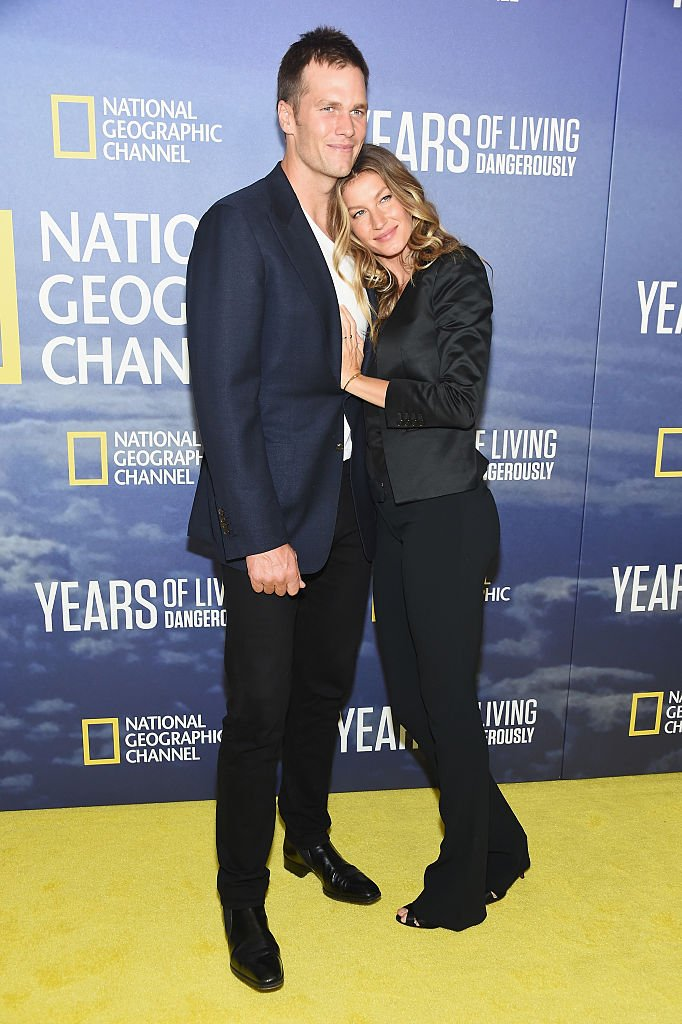 "Professional Football player Tom Brady and wife, model Gisele Bundchen attend National Geographic's ""Years Of Living Dangerously"" new season world premiere at the American Museum of Natural History on September 21, 2016 in New York City. (Photo by Michael Loccisano/Getty Images)"