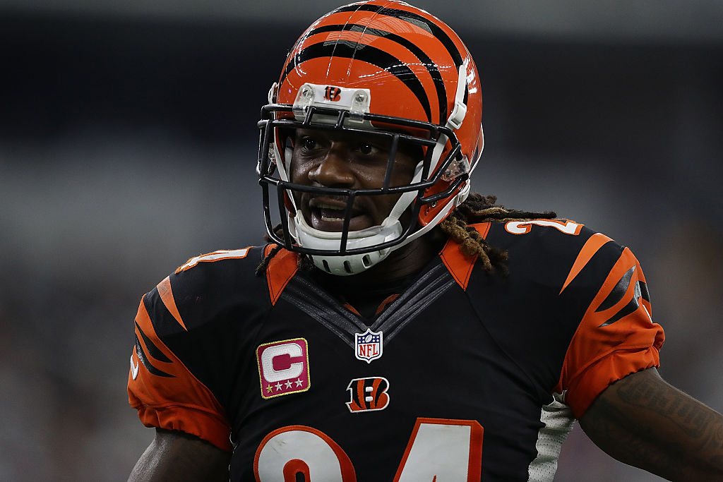 Adam Jones #24 of the Cincinnati Bengals at AT&T Stadium on October 9, 2016 in Arlington, Texas. (Photo by Ronald Martinez/Getty Images)