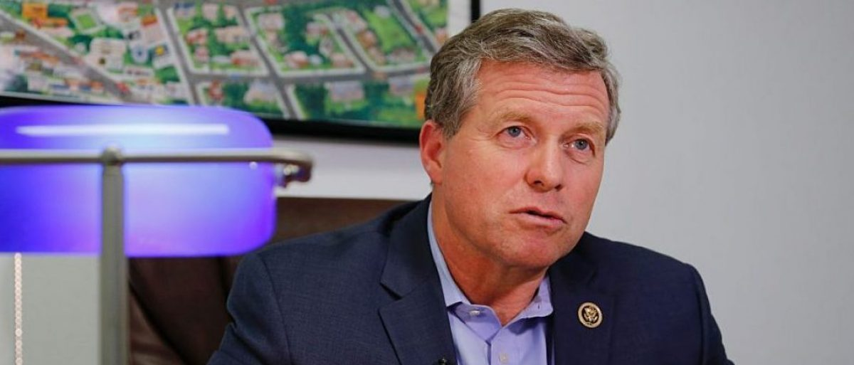 Republican Congressman Charlie Dent speaks during an interview at his campaign office in Allentown, Pennsylvania on November 2, 2016. / AFP / EDUARDO MUNOZ ALVAREZ /