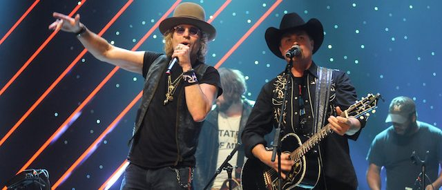 CHICAGO, IL - NOVEMBER 09: Big Kenny and John Rich of Big & Rich perform at CBS RADIO's second annual Stars and Strings concert at The Chicago Theatre on November 9, 2016 in Chicago, Illinois. (Photo by Timothy Hiatt/Getty Images)