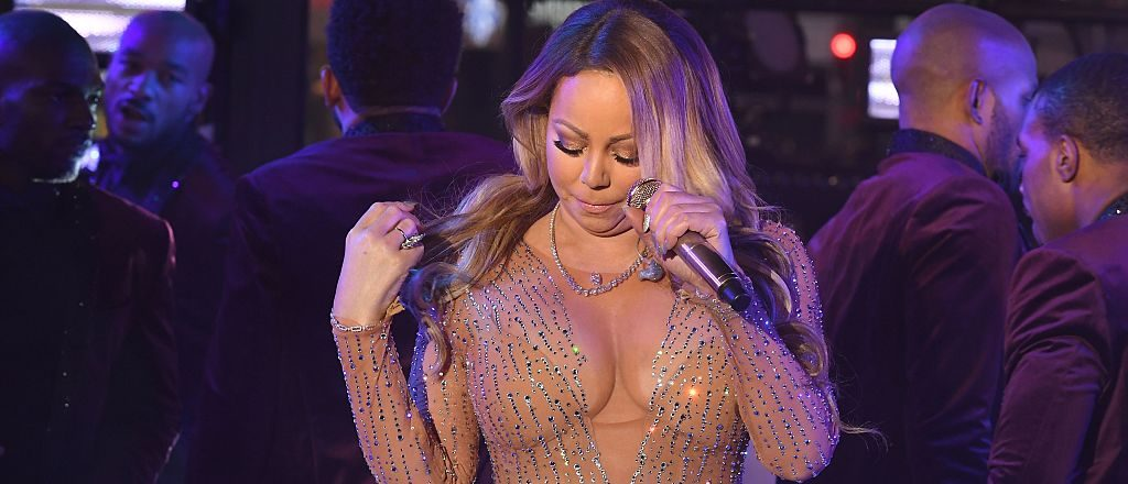 Mariah Carey performs during New Year's Eve celebrations in Times Square on December 31, 2016 in New York. (ANGELA WEISS/AFP/Getty Images)