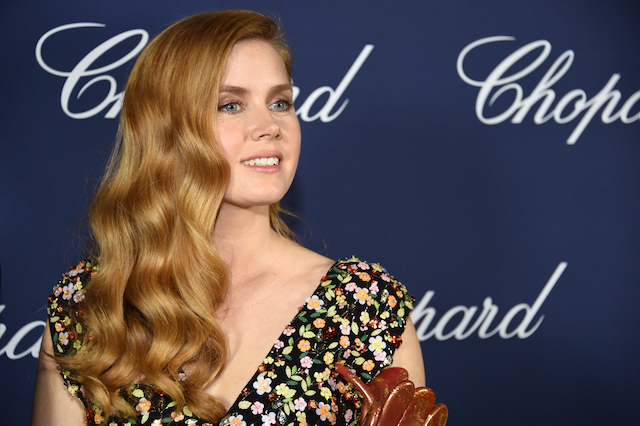 PALM SPRINGS, CA - JANUARY 02: Actress Amy Adams poses with the Chairman's Award during the 28th Annual Palm Springs International Film Festival Film Awards Gala at the Palm Springs Convention Center on January 2, 2017 in Palm Springs, California. (Photo by Michael Kovac/Getty Images for Palm Springs International Film Festival)