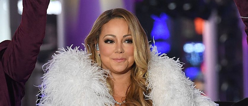 Mariah Carey performs during New Year's Eve (Photo credit: ANGELA WEISS/AFP/Getty Images)