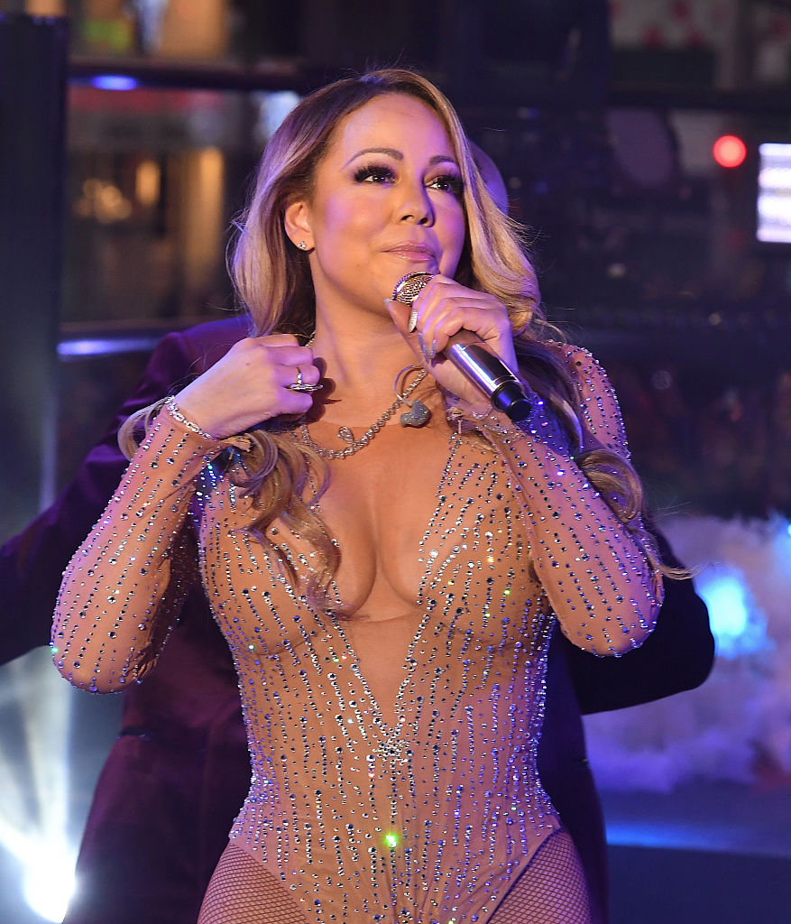 Mariah Carey performs during New Year's Eve celebrations in Times Square (Photo credit: ANGELA WEISS/AFP/Getty Images)