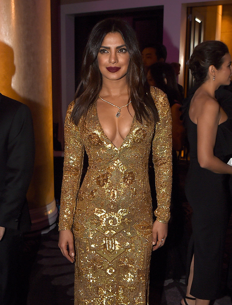 Actress Priyanka Chopra attends the 74th Annual Golden Globe Awards at The Beverly Hilton Hotel on January 8, 2017 in Beverly Hills, California. (Photo by Kevin Winter/Getty Images)
