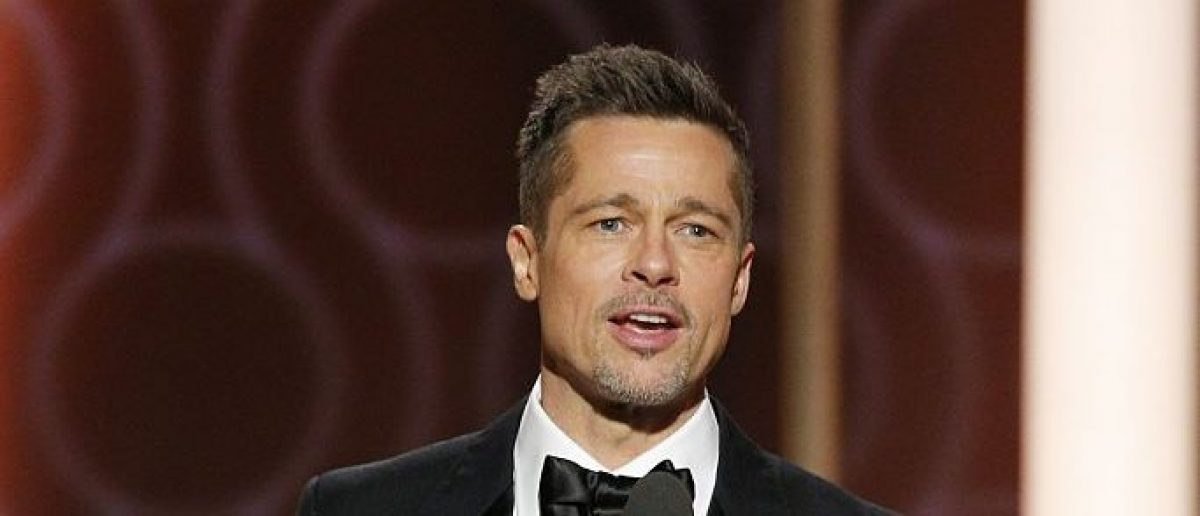 In this handout photo provided by NBCUniversal, presenter Brad Pitt onstage during the 74th Annual Golden Globe Awards at The Beverly Hilton Hotel on January 8, 2017 in Beverly Hills, California. (Photo by Paul Drinkwater/NBCUniversal via Getty Images)